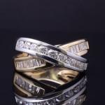 Ladies 14k Two Tone Diamond Fashion Ring