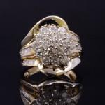 Ladies 14kyg Diamond Cluster Ring