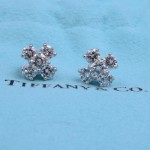 TIFFANY & CO DIAMOND CLUSTER EARRINGS