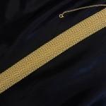 YELLOW GOLD MESH FLEX BANGLE