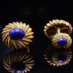 18kt Gold and Lapis Lazuli Cuff Links by Tiffany & Co. Jean Schlumberger
