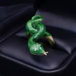 18kyg Enameled Snake Ring