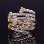 FANCY COLORED DIAMOND FASHION RING
