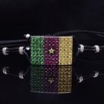18K White Gold Cameroon Flag Bracelet
