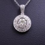 DIAMOND HALO FASHION PENDANT