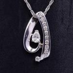 Ladies 14kwg Diamond Fashion Pendant