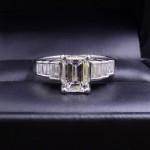 Ladies Platinum (.900) and Diamond Engagement Ring