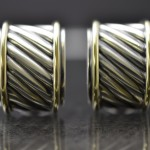 Sterling and 14kyg David Yurman Cable Earrings