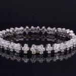 White Gold And Diamond Fashion Bracelet