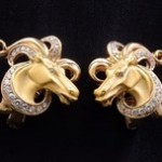 Yellow Gold And Diamond Ear Clips By Carrera y Carrera