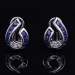 Sapphire and Diamond Fashion Ear Clips By Charles Krypell