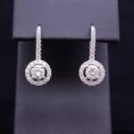 White Gold Diamond Fashion Earrings