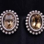Sterling Silver Smoky Quartz Fashion Earrings By Stephen Dweck