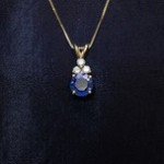Yellow Gold Sapphire and Diamond Fashion Necklace