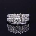 White Gold Diamond Bridal Set