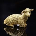 18K Lamb Brooch