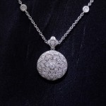 White Gold Diamond Locket